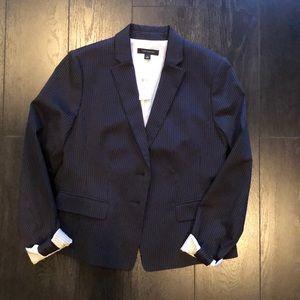 Ann Taylor Classic Navy Pinstripe Blazer Size 4